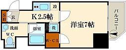 ファーストステージ京町堀レジデンス[8階]の間取り