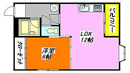 都・ハイツ 201号室[3階]の間取り