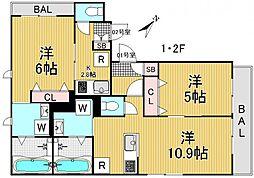 東京都品川区荏原4丁目の賃貸マンションの間取り