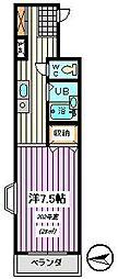埼玉県さいたま市桜区西堀1丁目の賃貸マンションの間取り