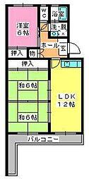 シャトー渡辺[2階]の間取り
