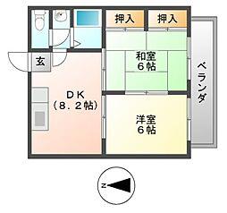 日田ハイツ[2階]の間取り