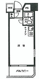トップルーム新宿公園第2[7階]の間取り