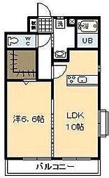 (賃)Sky Design[4階]の間取り
