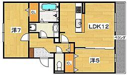 Fiorente Due[2階]の間取り