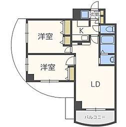 ノルデンタワー天神橋アネックス[14階]の間取り