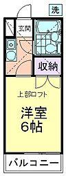 ハイツ菊水[103号室]の間取り