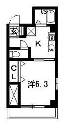パークハイツ[203号室]の間取り