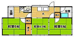 [一戸建] 茨城県つくば市上ノ室 の賃貸【/】の間取り