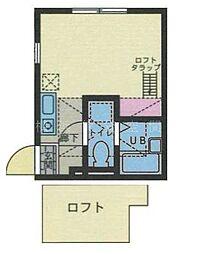 ハーミットクラブハウス西横浜II[1階]の間取り
