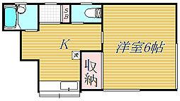 ハイツ藤が丘B[2階]の間取り