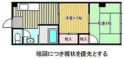 愛知県名古屋市千種区東山通5丁目の賃貸マンションの間取り