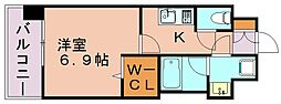 福岡県福岡市博多区住吉5丁目の賃貸マンションの間取り