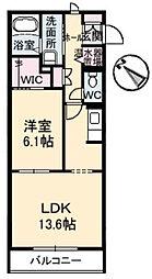 メゾン・カンフリエ井口[1階]の間取り