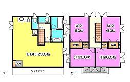 [一戸建] 埼玉県所沢市東所沢3丁目 の賃貸【/】の間取り