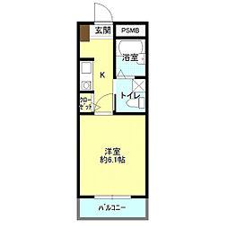 ダイレクトマンションII[2階]の間取り