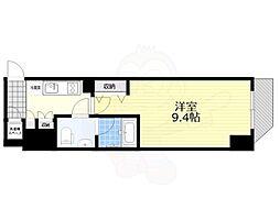 Casa Splendido 麻布仙台坂 12階1Kの間取り