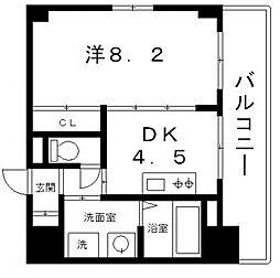アーバンステージ安堂寺I[6階]の間取り