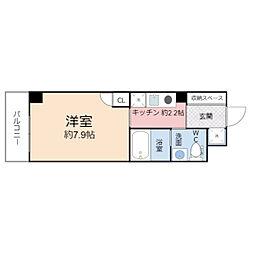 TOYOTOMI STAY Premium 梅田2 6階1Kの間取り