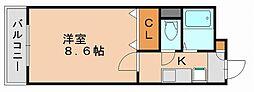 福岡県福岡市博多区金の隈2丁目の賃貸アパートの間取り