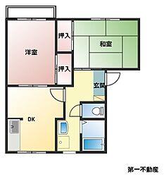 兵庫県西脇市郷瀬町の賃貸アパートの間取り