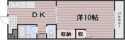 岡山県岡山市南区福島3丁目の賃貸マンションの間取り