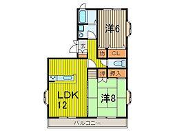 小川マンション[301号室]の間取り