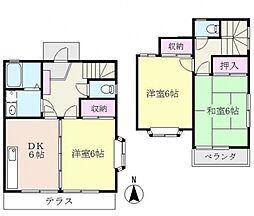 [タウンハウス] 神奈川県横浜市都筑区早渕3丁目 の賃貸【/】の間取り