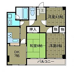 プライムガーデン1[4階]の間取り