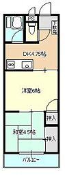 北坂戸マンション[304号室]の間取り