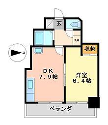 愛知県名古屋市中村区千原町の賃貸マンションの間取り