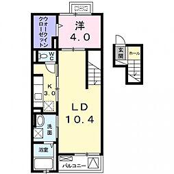 ルミナス ハート[4階]の間取り