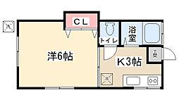 市川荘[202号室]の間取り