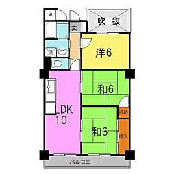 兵庫県姫路市安田2丁目の賃貸マンションの間取り
