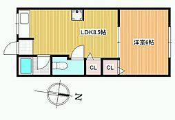 小久保マンション[3階]の間取り