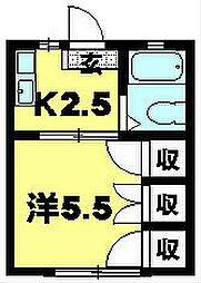 ドミール彦根[203号室]の間取り