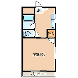 シティハイツ古賀[503号室]の間取り