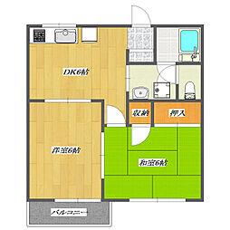 Apartment UTSUI[203号室]の間取り