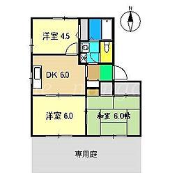 アメニティー21 E棟[1階]の間取り