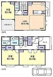 [一戸建] 千葉県八千代市八千代台北8丁目 の賃貸【/】の間取り
