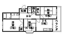 第二藤田マンション[305号室]の間取り