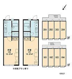 神奈川県横浜市西区霞ケ丘の賃貸アパートの間取り