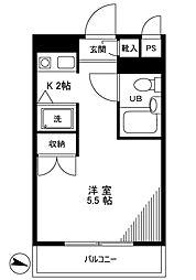トップ下赤塚NO1[3階]の間取り