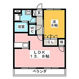 サンクエトワール[3階]の間取り