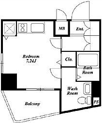ベルファース東麻布[401号室]の間取り