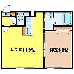 北海道札幌市中央区北四条西25丁目の賃貸マンションの間取り