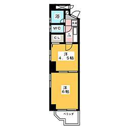 メゾンロイヤル[4階]の間取り