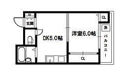 エクトI[4階]の間取り