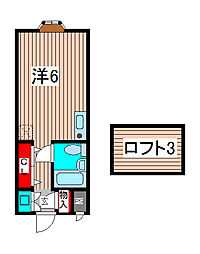 埼玉県川口市芝富士2の賃貸アパートの間取り