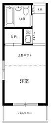 レオパレス武蔵新田[1階]の間取り